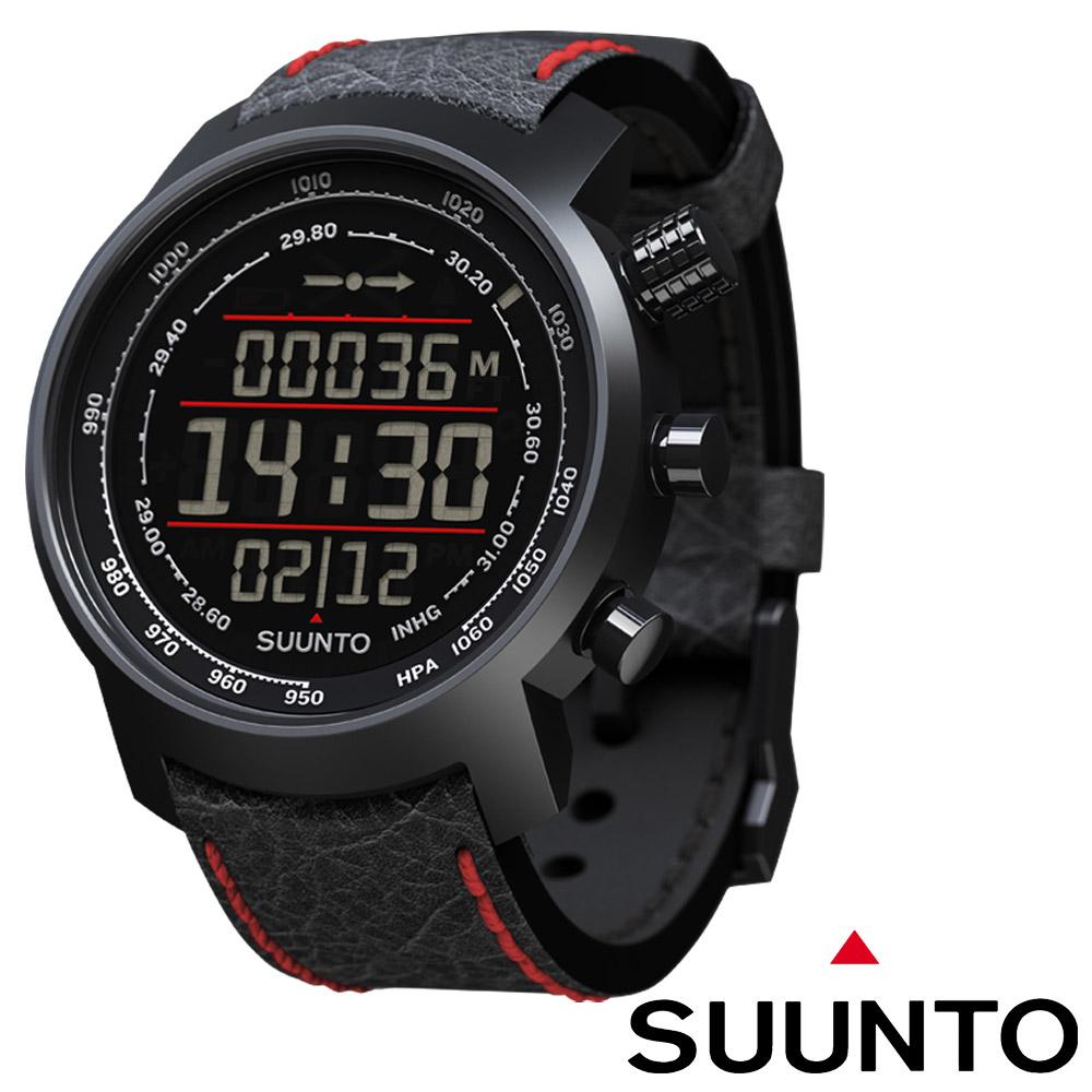 Suunto Elementum TERRA登山釣魚計時錶黑底紅紋錶帶限量款