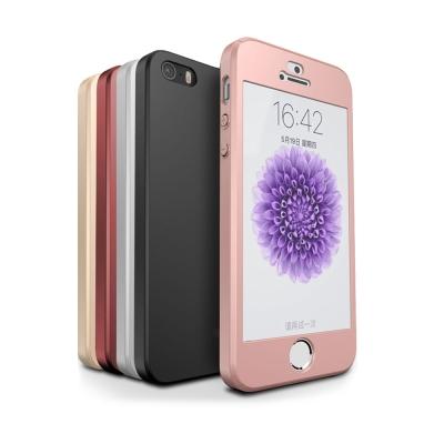 UCASE iPhone SE/5/5S 全包覆保護殼 手機殼+鋼化玻璃貼