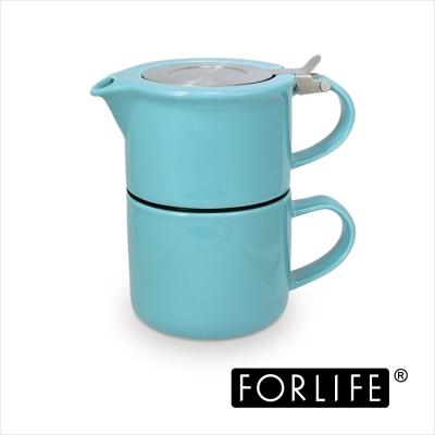美國FORLIFE 一人獨享壺杯組414ML-蒂芬妮藍