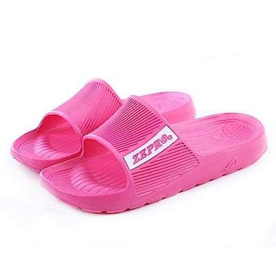 【ZEPRO】女款平板涼拖鞋RELAXED-粉紅