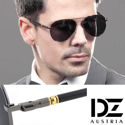 DZ 摩登名仕 抗UV 偏光太陽眼鏡墨鏡(酷黑)