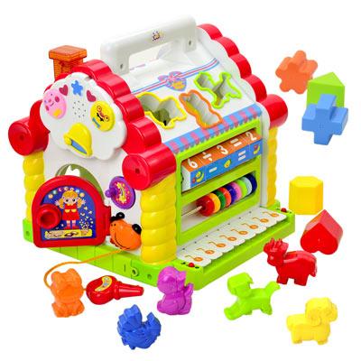 Happy House 多功能益智趣味學習音樂電子琴功能玩具