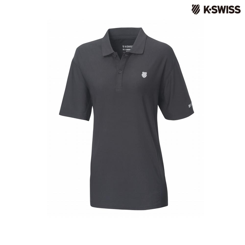 K-Swiss Space Dye Polo Shirt排汗POLO杉-男-黑
