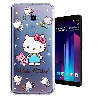 正版凱蒂貓 HTC U11+/ U11 Plus 夢幻童話 彩鑽氣墊殼(愛戀小熊...