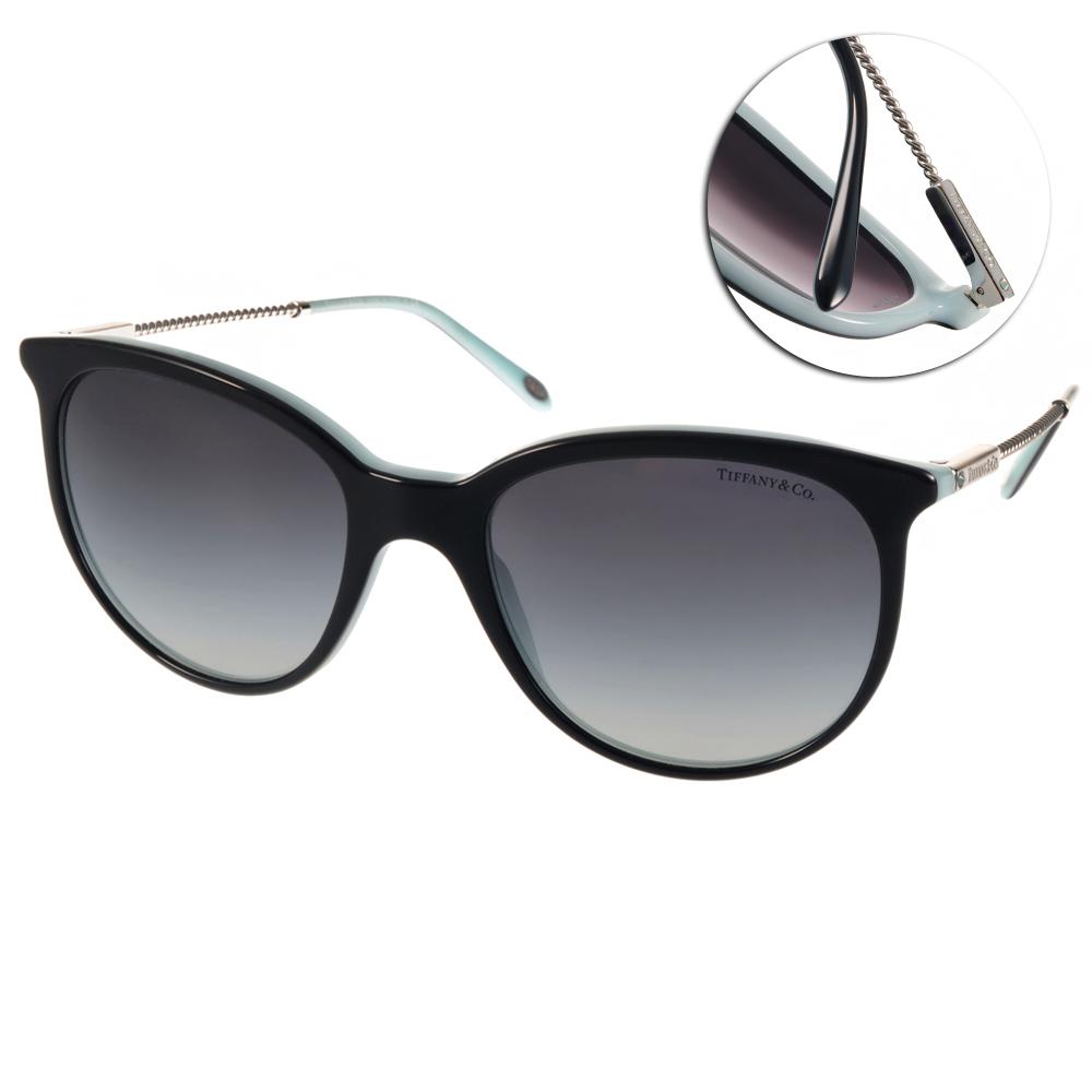Tiffany&CO.太陽眼鏡 細緻美學/黑-銀#TF4087B 80553C