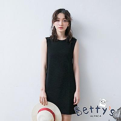 betty's貝蒂思 純色無袖長版上衣(黑色)