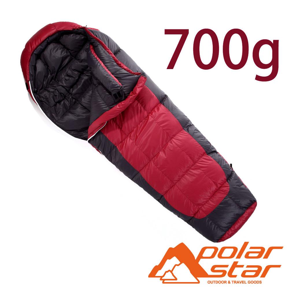 【台灣製】PolarStar JIS 95/5 頂級羽絨睡袋700g『紅』P13731