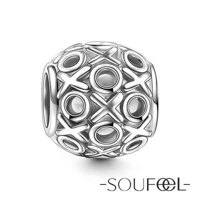 SOUFEEL索菲爾 925純銀珠飾 愛的擁吻 串珠