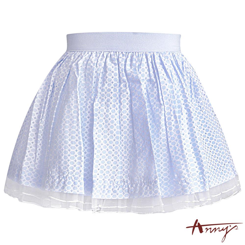 Annys繽紛可愛點點蓬蓬短裙*5186水藍