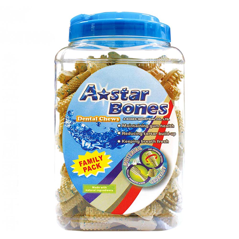 A star Bones 多效亮白雙刷頭潔牙骨 (家庭號)