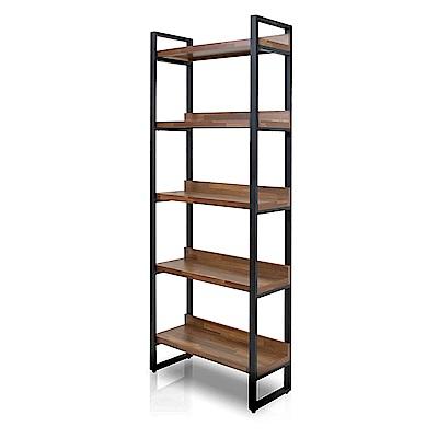 多瓦娜-日式工業-集成2.7尺高書櫃/書架-兩色-寬80.5深34高202cm