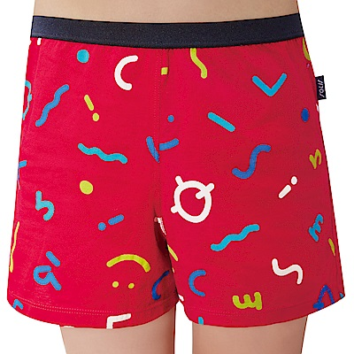 SOLIS 快樂頌系列120-150印花四角男童褲(拉丁紅)