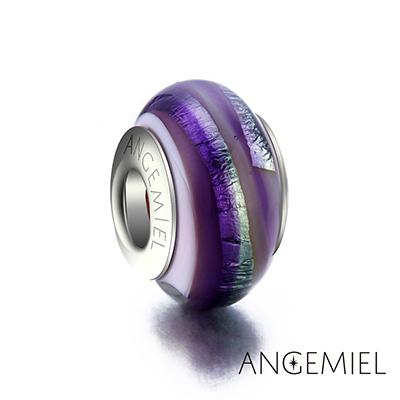 Angemiel安婕米 義大利純銀 琉璃串珠 紫色曼陀羅