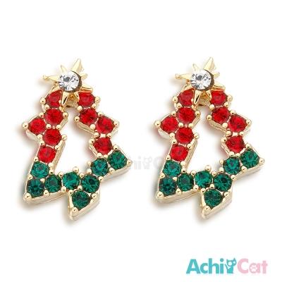 AchiCat 耳環耳針式 聖誕樹