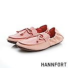 HANNFORT FLEX360莫卡辛折疊樂福鞋-女-粉紅橘