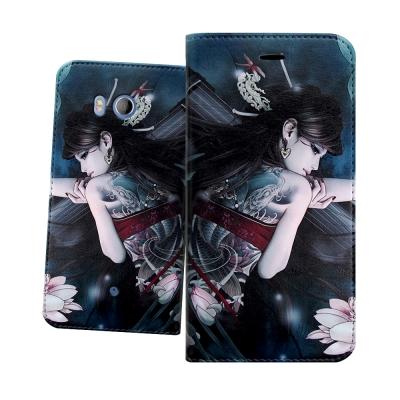 張小白授權 HTC U11 5.5吋 古典奇幻 插畫磁扣皮套(七秀)