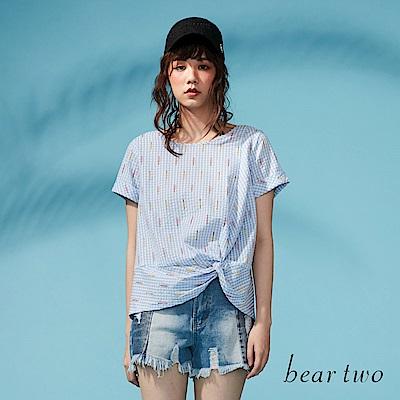 beartwo 網路獨家-扭結圖案造型上衣(二色)