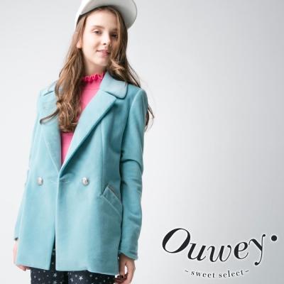 OUWEY歐薇-西裝領口袋毛料外套