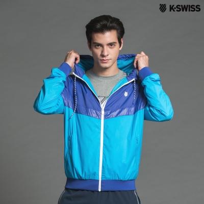 K-Swiss Basic Windbreaker風衣外套-男-藍