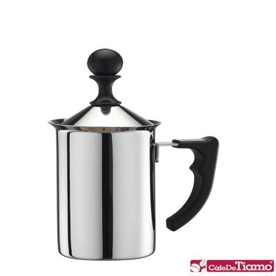 Tiamo 1116不鏽鋼雙層奶泡杯400ml(HA1611)