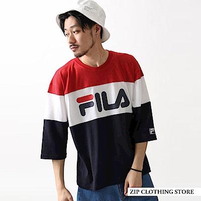 FILA印刷五分袖T恤(4色) ZIP日本男裝