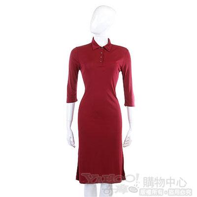 MALO 紅色素雅五分袖洋裝