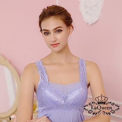 內衣 美型蠶絲無鋼圈內衣背心裙-紫 La Queen