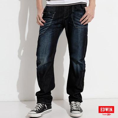 EDWIN-E-FUNCTION-窄直筒牛仔褲-男款-原藍磨