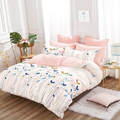 美夢元素 台製-精梳棉-涼被床包組-放飛夢想(雙人)
