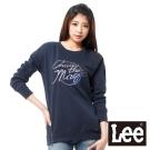 Lee 長袖T恤 長版刷毛厚T -女款(深藍)