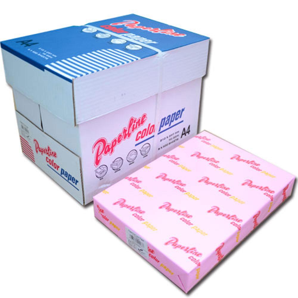 【PAPERLINE】175 / 70P / A4 粉紅 彩色影印紙(1包500張)