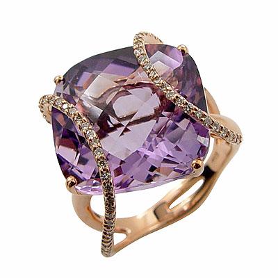 MANSTYLE「紫羅蘭之舞」紫水晶鑽戒