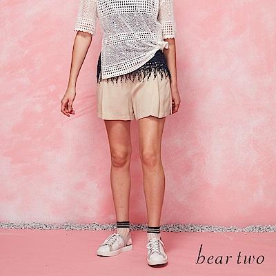beartwo 寬管A字型鬆緊短褲(二色)