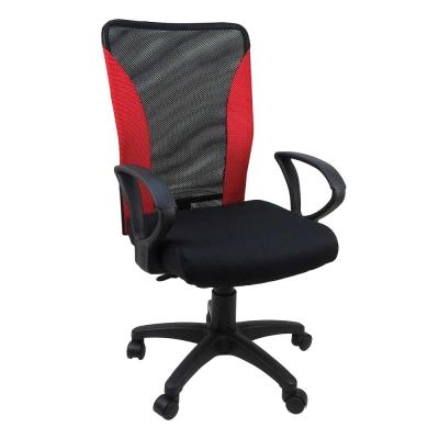 Desig 拼色網布厚座墊小鋼/辦公椅/電腦椅 4色
