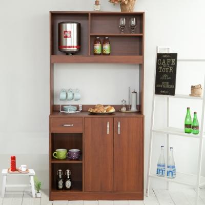 澄境 幸福語言居家收納櫃餐櫥櫃90X40X180cm