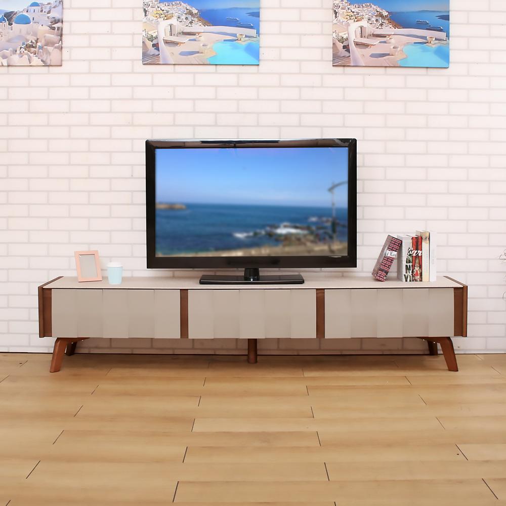 日安家居 Ambrose安布魯極品七尺仿石玻璃電視櫃