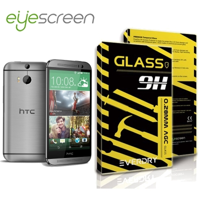 EyeScreen HTC One M8  Everdry AGC 玻璃保護貼