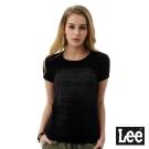 Lee  灰色漸層色彩短袖圓領TEE-BO-女-黑色