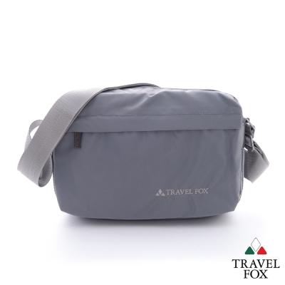Travel-Fox旅狐-防潑水-輕量出擊尼龍雙層側背包-灰