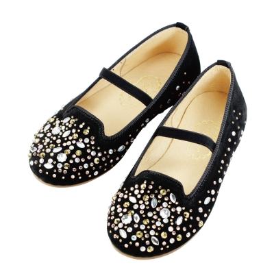 Swan天鵝童鞋-閃耀水鑽樂福鞋  3720-黑