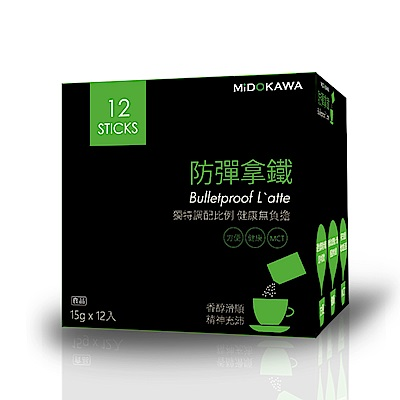 MIDOKAWA美都川 日本話題熱銷 防彈咖啡(15g*12包/盒)