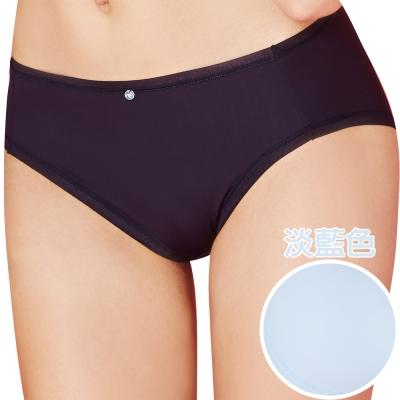 思薇爾 嗨Q Bra系列M-XXL素面中腰三角褲(淡藍色)
