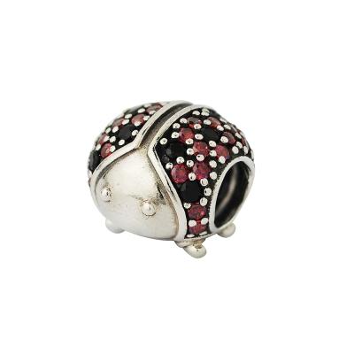 Pandora 潘朵拉 紅黑鋯石金龜子墬