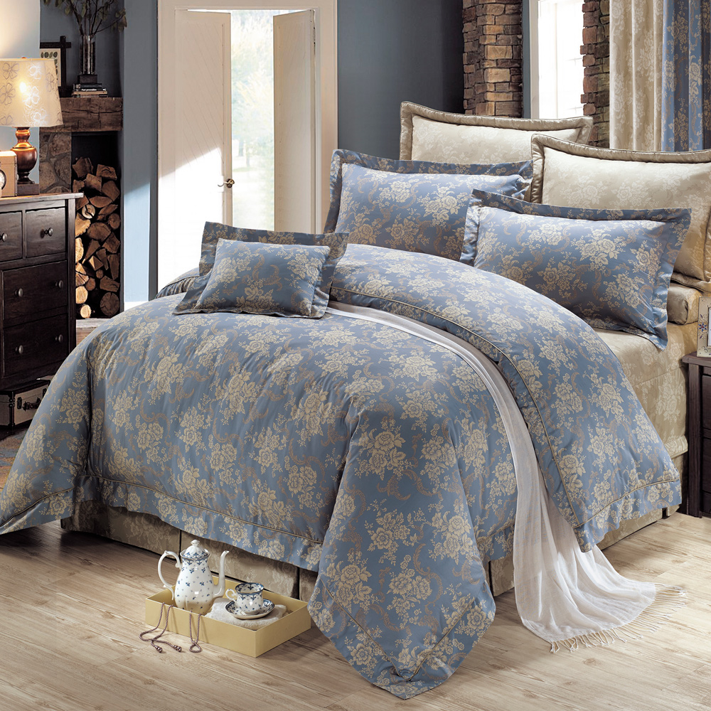 鴻宇HongYew 美國PIMA棉 400織-莫里斯 雙人加大七件式兩用被床罩組