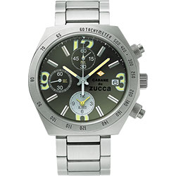 CABANE de ZUCCA 奇幻新世界計時腕錶-綠/40mm