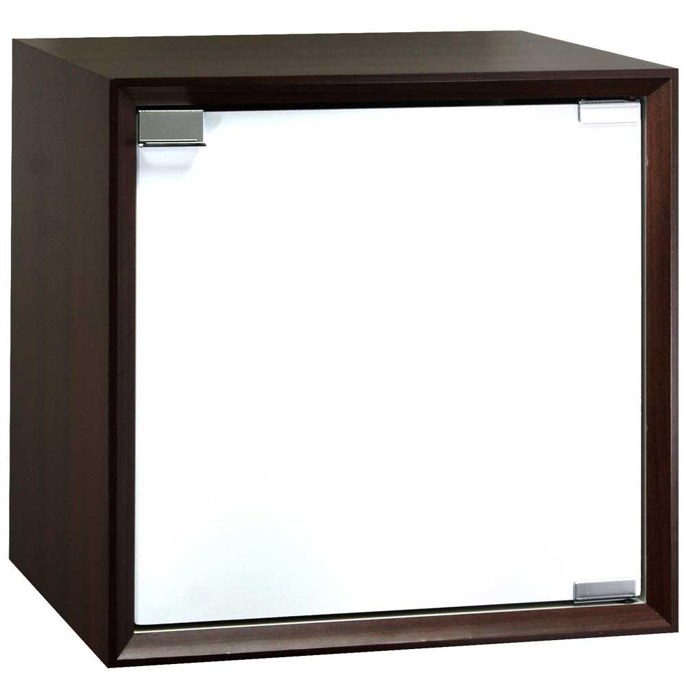 魔術方塊30系統收納櫃/木門櫃-胡桃色