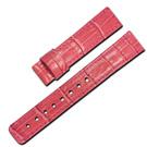 Watchband /SEIKO LUKIA 精工壓紋牛皮替用錶帶- 桃粉色/15mm