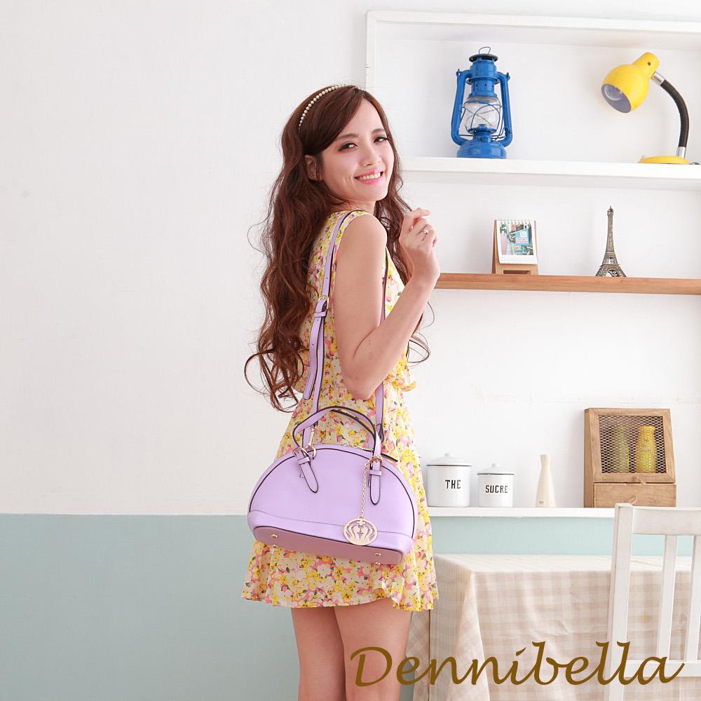 Dennibella 丹妮貝拉 -真皮斜背貝殼包-紫