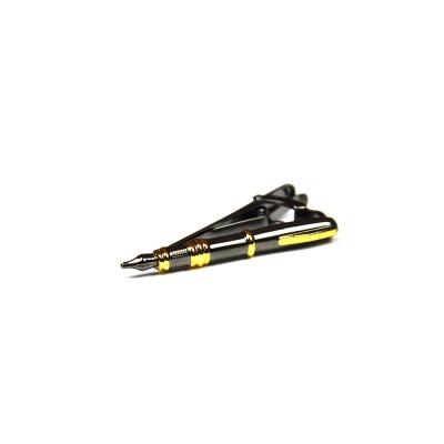 拉福 領帶夾烏黑鋼筆領夾帶領夾(5cm)