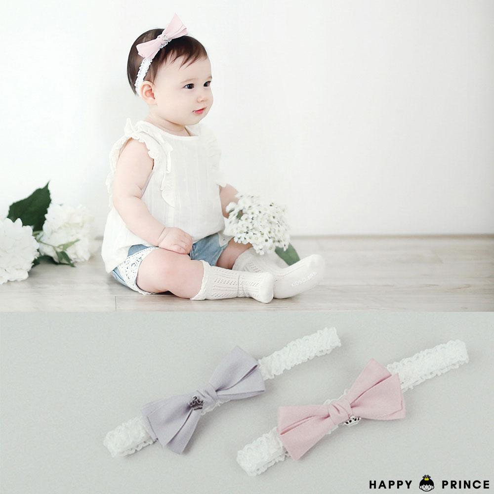 韓國 Happy Prince 皇冠蝴蝶結蕾絲髮帶